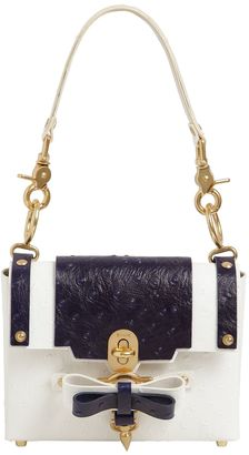 Niels Peeraer Small Bow Buckle Embossed Leather Bag