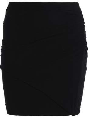 Splendid Ruched Supima Cotton-Blend Mini Skirt