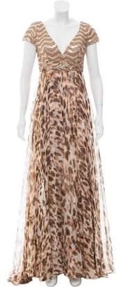 Alberto Makali Embellished Evening Dress w/ Tags