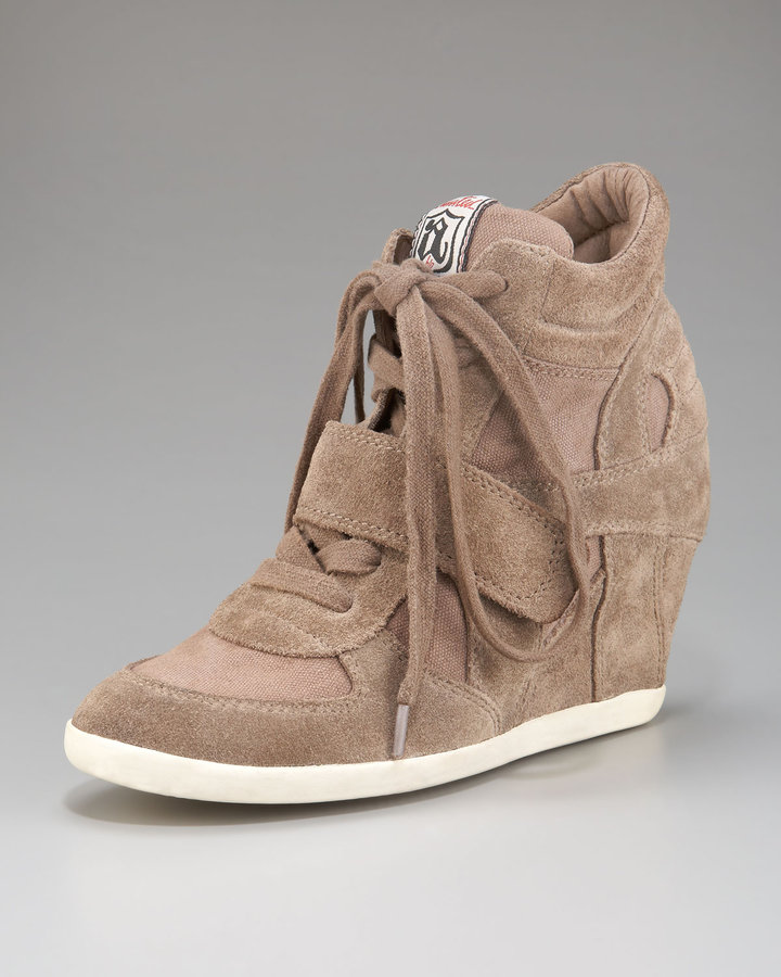 Ash Suede & Canvas Wedge Sneaker