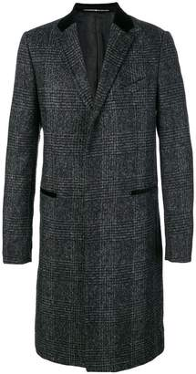 Givenchy check formal coat
