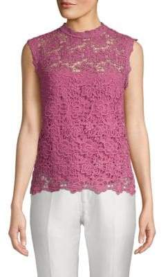 Nanette Lepore Floral Embroidery Sleeveless Top
