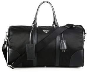 Prada Nylon & Saffiano Leather Duffel