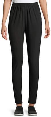 Caroline Rose Stretch Easy Wrinkle-Resistant Leggings, Black