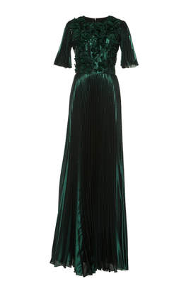 Andrew Gn Belted Gown