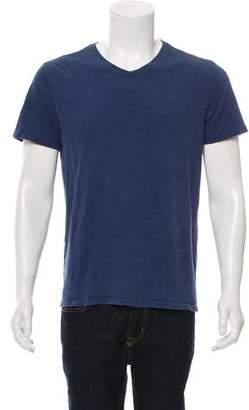 Vince Woven Crew Neck T-Shirt