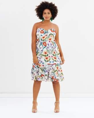 Cooper St CS Curvy - Gardenia Vintage Strapless Midi Dress