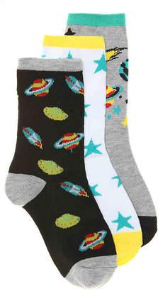 Max + Jake Max + Jake Space Crew Socks - 3 Pack - Boy's