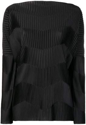 Capucci contrast ribbed detail top
