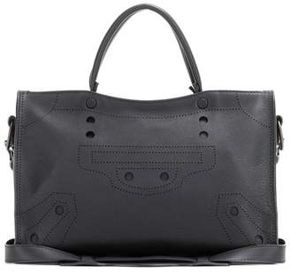 Balenciaga Blackout City Small leather tote