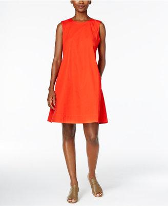 Eileen Fisher Organic Cotton-Blend Trapeze Dress $198 thestylecure.com