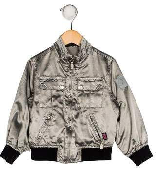 Belstaff Boys' Mock Neck Zip-Up Jacket