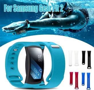 Samsung ONLINE For Gear Fit 2 Tracker Adjustable Replacement Soft Comfortable Silicone Wristband Watch Band Strap Fashion Design watch gadget