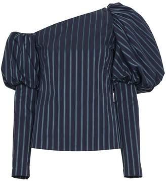 Osman Asymmetric Striped Cotton Top