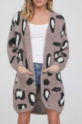 R+D Hipster Emporium Leopard Cozy Cardigan