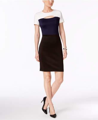 Eci Colorblocked Cutout Sheath Dress $70 thestylecure.com