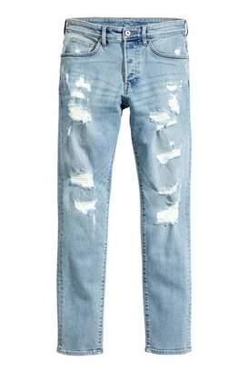 H&M Trashed Skinny Jeans - Light denim blue - Men