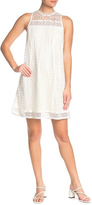 Moon River Open Knit Lace Dress