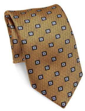 BrioniBrioni Square Printed Silk Tie