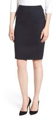 BOSS Vimahina Monostripe Stretch Wool Suit Skirt
