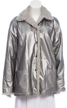 Alixandre Metallic Fur-Lined Coat