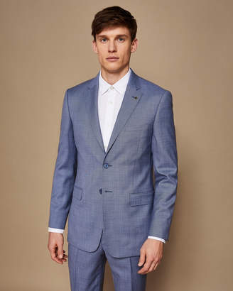 Ted Baker STRONGJ Slim fit plain wool suit jacket