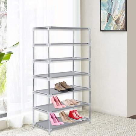 Generic Shoe Rack Metal Shoes Rack 3/4/5/6/7/10 Layer Shoes Stand Dust-Shelves Storage Organizer