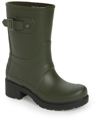 Women's Hunter 'Original' Waterproof Ankle Rain Boot $155 thestylecure.com