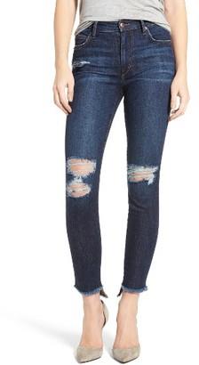 Women's Joe's Charlie Step Hem Skinny Jeans $198 thestylecure.com