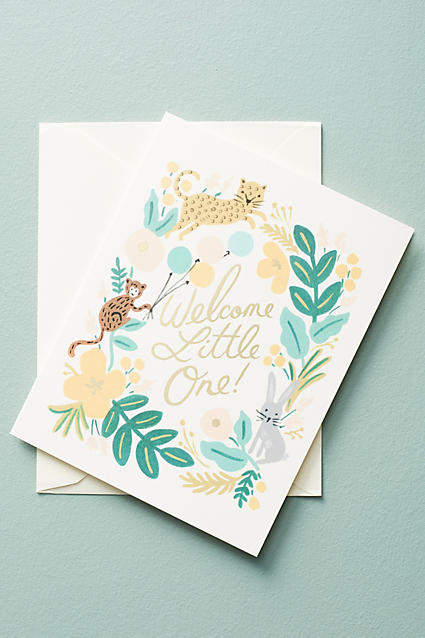 Animal Welcome Little One Card