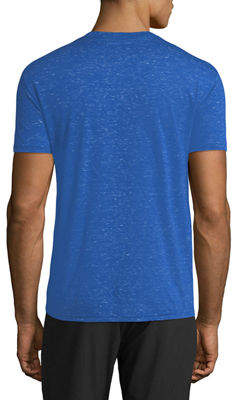 Karl Lagerfeld Paris Men's Abstract-Print Heathered Crewneck Short-Sleeve T-Shirt