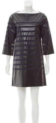 Sacai Faux-Leather Mini Dress