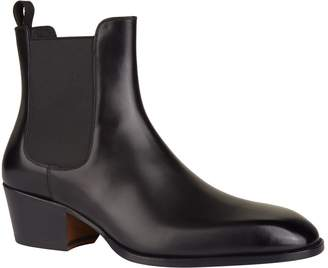 Tom Ford Leather Cuban Heel Boots