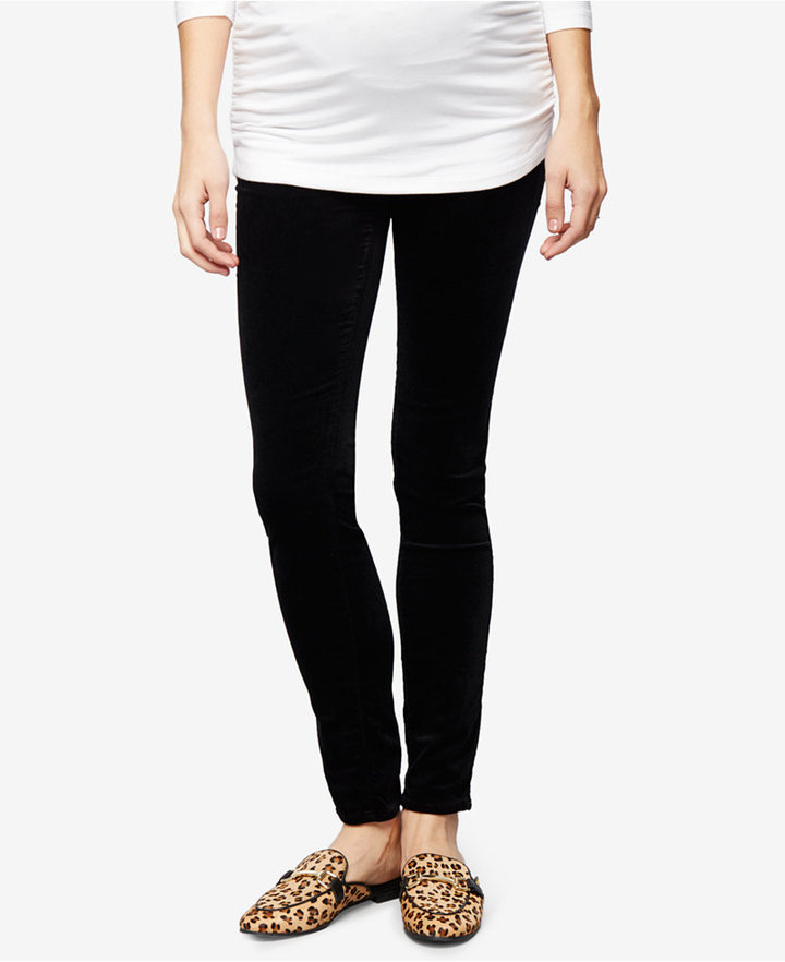 AG JeansAG Jeans Maternity Velveteen Black Wash Skinny Jeans