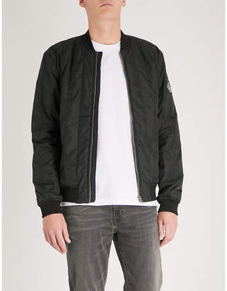 CK Calvin Klein Side pockets quilted shell bomber jacket
