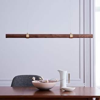 west elm Linear Wood LED Pendant