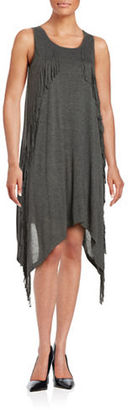 Kensie Asymmetric Fringe Dress $69 thestylecure.com