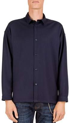 The Kooples Smooth Regular Fit Button-Down Night Shirt