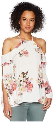 Miss Me Open Sleeve Floral Top Women's Clothing