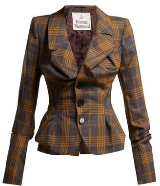 Vivienne Westwood Alcoholic Tartan Wool Jacket - Womens - Grey