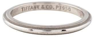 Tiffany & Co. Platinum Milgrain Edge Band