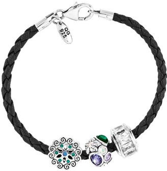 Prerogatives Sterling Flowers Bead Bracelet Set