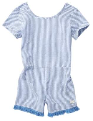 7 For All Mankind Open Back Romper (Big Girls)