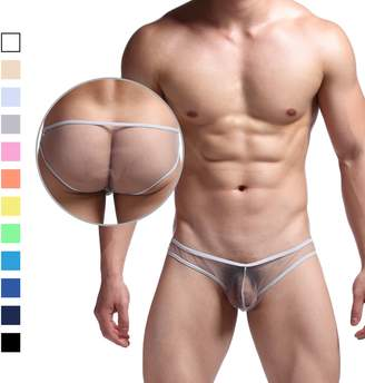 Chris&Je Mens Low-waisted Sheer Mesh Briefs