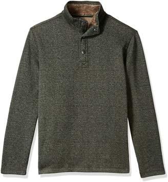 G.H. Bass & Co. Men's Madawaska Button Mock Long Sleeve Fleece