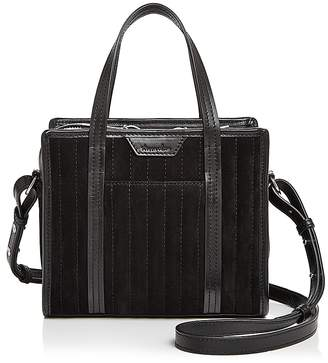 Steven Alan Simone Small Suede and Leather Satchel
