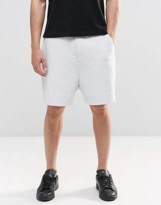 Asos DESIGN Slim Tailored Shorts In Mid Gray Reverse Jersey