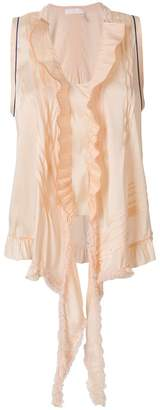 Chloé ruffle-trimmed tie top