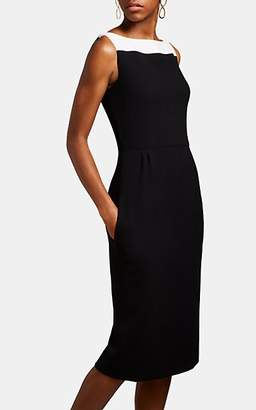 Givenchy Women's Colorblocked Wool Sleeveless Dress - Black