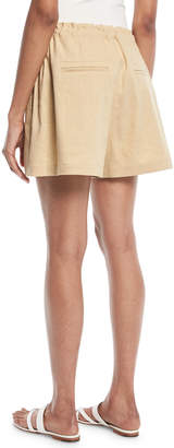 Vince High-Rise Rope-Tie Linen Shorts